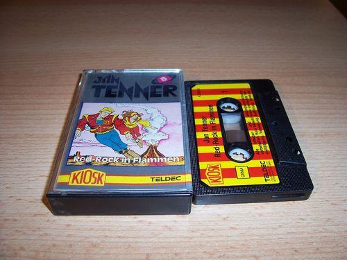 Jan Tenner Hörspiel MC Kassette 008 8 Red-Rock in Flammen 1. Kiosk Teldec rot-gelb gebr.