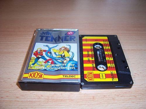 Jan Tenner Hörspiel MC Kassette 011 11 Angriff der Weltraumpflanzen 1. Kiosk Teldec rot-gelb gebr.