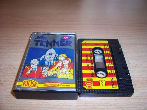Jan Tenner Hörspiel MC Kassette 015 15 Geschenk der Leonen 1. Kiosk Teldec rot-gelb gebr.