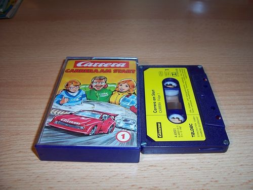 Carrera Hörspiel MC 001 1 Carrera am Start  Teldec gebr.
