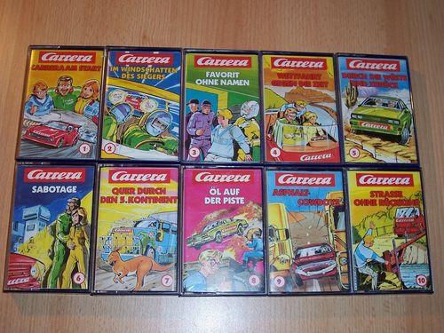 Carrera Hörspiel MC 1 - 10 x MCs Sammlung komplett  Teldec gebr.