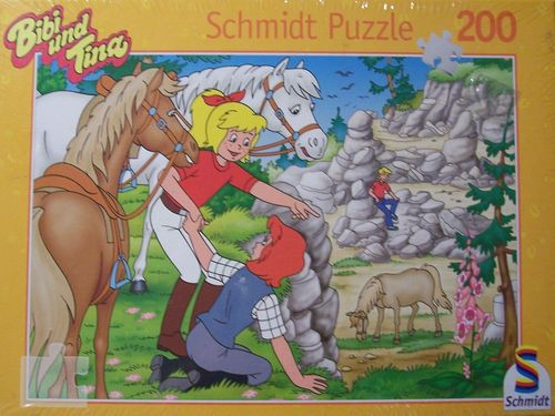Puzzle 200 Teile - Bibi und Tina Der Pferdedieb von Schmidt Spiele Nr. 55282 NEU & OVP