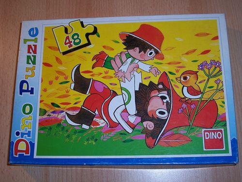 Puzzle 48 Teile - Vater und Sohn von Dino / Ravebsburger Puzzle Nr. 011205c 100% komplett gebr.