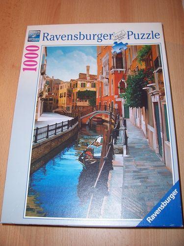 Puzzle 1000 Teile - Venezianische Impressionen Ravebsburger Puzzle Nr. 158966 100% komplett gebr.