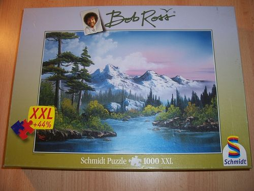 Puzzle 1000 Teile - Bob Ross Frühling XXL Schmidt Spiele Nr. 57354 100% komplett gebr.
