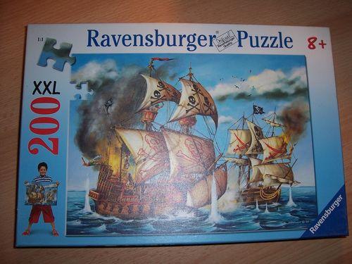 Puzzle 200 Teile - XXL - Piraten Piratenschiff Ravebsburger Puzzle Nr. 127719 100% komplett gebr.