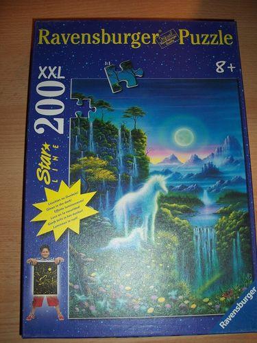 Puzzle 200 Teile - XXL - Einhörner Leuchtet Ravebsburger Puzzle Nr. 139033 100% komplett gebr.