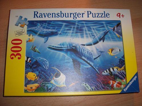 Puzzle 300 Teile - Delfinwelt Fische Ravebsburger Puzzle Nr. 130948 100% komplett gebr.