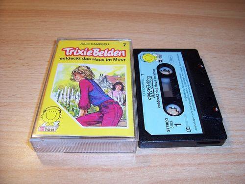 Trixie Belden Hörspiel MC 007 7 entdeckt das Haus im Moor Schneider Ton schwarz-blau gebr.