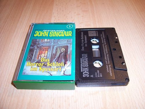 John Sinclair Hörspiel MC 001 1 Das Horror-Schloß im Spessart Tonstudio Braun 3. schwarz Film gebr.