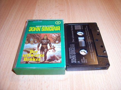 John Sinclair Hörspiel MC 002 2 Der schwarze Henker Tonstudio Braun 2. schwarz Atom gebr.