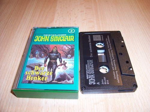 John Sinclair Hörspiel MC 002 2 Der schwarze Henker Tonstudio Braun 3. schwarz Film gebr.