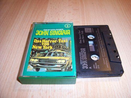 John Sinclair Hörspiel MC 003 3 Das Horror-Taxi von New York Tonstudio Braun 2. schwarz Atom gebr.