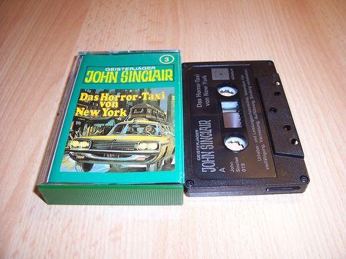John Sinclair Hörspiel MC 003 3 Das Horror-Taxi von New York Tonstudio Braun 3. schwarz Film gebr.