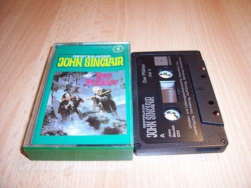 John Sinclair Hörspiel MC 004 4 Der Pfähler Teil 1 von 3 1/3 Tonstudio Braun 2. schwarz Atom gebr.