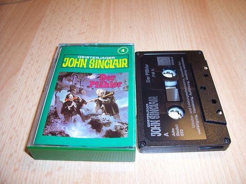 John Sinclair Hörspiel MC 004 4 Der Pfähler Teil 1 von 3 1/3 Tonstudio Braun 3. schwarz Film gebr.