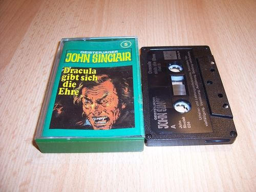 John Sinclair Hörspiel MC 005 5 Dracula gibt sich die Ehre Teil 2 /3 Tonstudio Braun 2. schwarz Atom