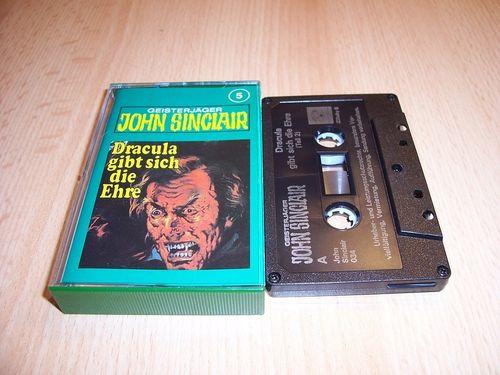 John Sinclair Hörspiel MC 005 5 Dracula gibt sich die Ehre Teil 2 /3 Tonstudio Braun 3. schwarz Film