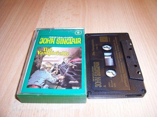 John Sinclair Hörspiel MC 006 6 Die Vampirfalle Teil 3 von 3 3/3 Tonstudio Braun 2. schwarz Atom geb
