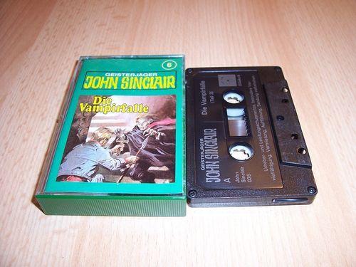 John Sinclair Hörspiel MC 006 6 Die Vampirfalle Teil 3 von 3 3/3 Tonstudio Braun 3. schwarz Film geb