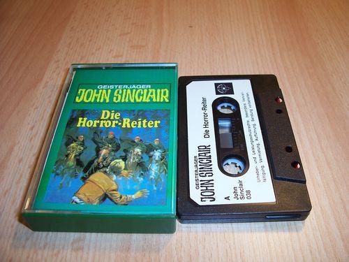 John Sinclair Hörspiel MC  007 7 Die Horror-Reiter Tonstudio Braun 1. schwarz-weiß gebr.