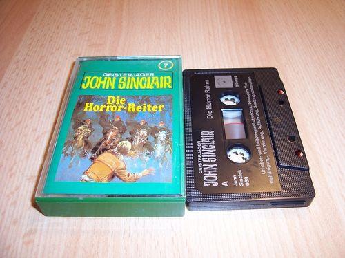 John Sinclair Hörspiel MC  007 7 Die Horror-Reiter Tonstudio Braun 2. schwarz Atom gebr.