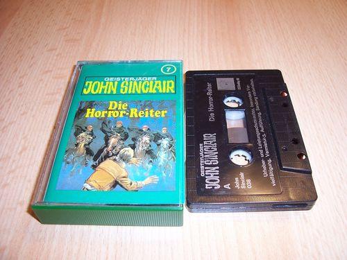 John Sinclair Hörspiel MC  007 7 Die Horror-Reiter Tonstudio Braun 3. schwarz Film gebr.