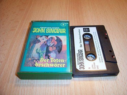 John Sinclair Hörspiel MC  008 8 Der Totenbeschwörer Tonstudio Braun 1. schwarz-weiß gebr.