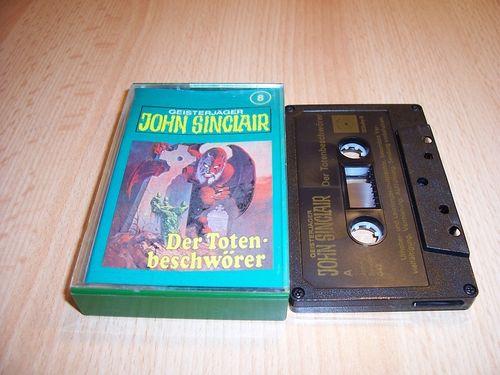 John Sinclair Hörspiel MC  008 8 Der Totenbeschwörer Tonstudio Braun 2. schwarz Atom gebr.