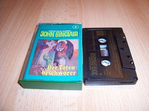 John Sinclair Hörspiel MC  008 8 Der Totenbeschwörer Tonstudio Braun 3. schwarz Film gebr.