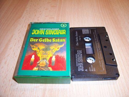 John Sinclair Hörspiel MC  009 9 Der Gelbe Satan Teil 1 /2 Tonstudio Braun 2. schwarz Atom gebr.