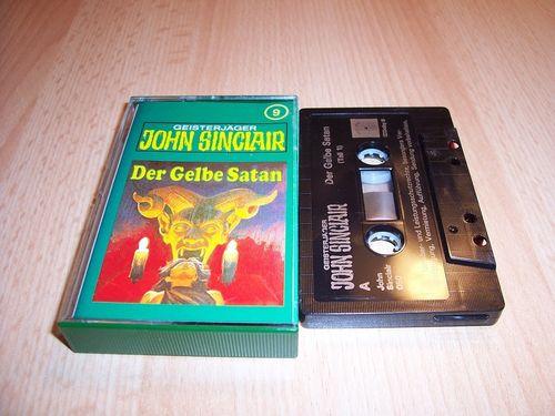 John Sinclair Hörspiel MC  009 9 Der Gelbe Satan Teil 1 /2 Tonstudio Braun 3. schwarz Film gebr.