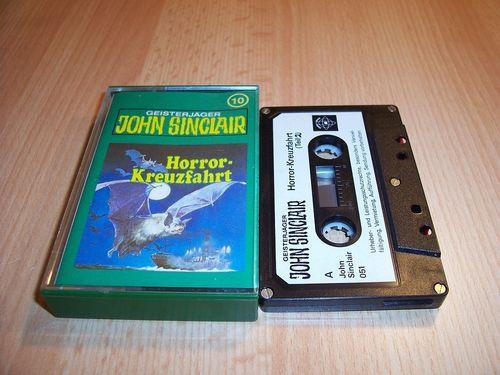 John Sinclair Hörspiel MC  010 10 Horror-Kreuzfahrt Teil 2 /2 Tonstudio Braun 1. schwarz-weiß gebr.