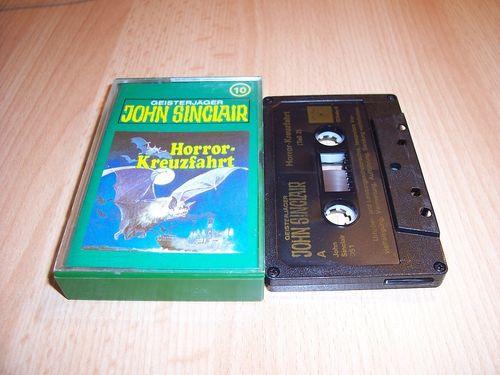 John Sinclair Hörspiel MC  010 10 Horror-Kreuzfahrt Teil 2 /2 Tonstudio Braun 2. schwarz Atom gebr.
