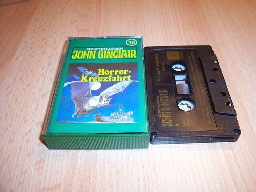 John Sinclair Hörspiel MC  010 10 Horror-Kreuzfahrt Teil 2 /2 Tonstudio Braun 3. schwarz Film gebr.