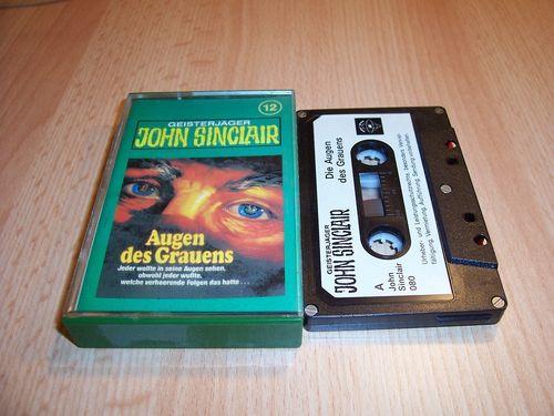 John Sinclair Hörspiel MC  012 12 Augen des Grauens Tonstudio Braun 1. schwarz-weiß gebr.