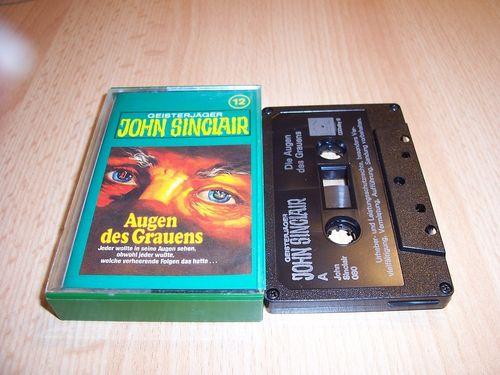 John Sinclair Hörspiel MC  012 12 Augen des Grauens Tonstudio Braun 2. schwarz Atom gebr.