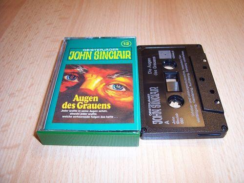 John Sinclair Hörspiel MC  012 12 Augen des Grauens Tonstudio Braun 3. schwarz Film gebr.
