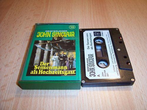 John Sinclair Hörspiel MC  013 13 Der Sensenmann als Hochzeitsgast Tonstudio Braun 1. schwarz-weiß