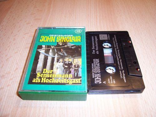 John Sinclair Hörspiel MC  013 13 Der Sensenmann als Hochzeitsgast Tonstudio Braun 2. schwarz Atom