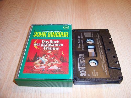 John Sinclair Hörspiel MC 014 14 Das Buch der grausamen Träume Tonstudio Braun 2. schwarz Atom gebr.