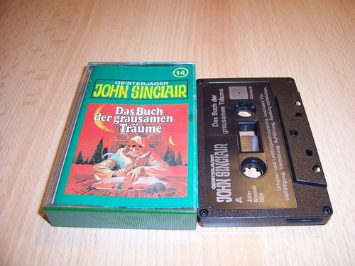 John Sinclair Hörspiel MC 014 14 Das Buch der grausamen Träume Tonstudio Braun 3. schwarz Film gebr.