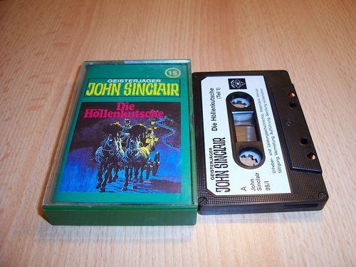 John Sinclair Hörspiel MC 015 15 Die Höllenkutsche Teil 1 /2 Tonstudio Braun 1. schwarz-weiß gebr.