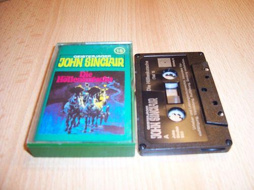 John Sinclair Hörspiel MC 015 15 Die Höllenkutsche Teil 1 /2 Tonstudio Braun 2. schwarz Atom gebr.