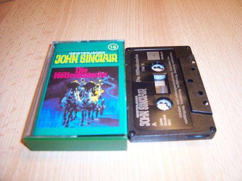 John Sinclair Hörspiel MC 015 15 Die Höllenkutsche Teil 1 /2 Tonstudio Braun 3. schwarz Film gebr.