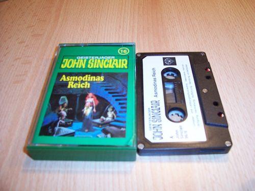 John Sinclair Hörspiel MC 016 16 Asmodinas Reich Teil 2 /2  Tonstudio Braun 1. schwarz-weiß gebr.