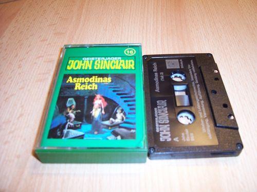 John Sinclair Hörspiel MC 016 16 Asmodinas Reich Teil 2 /2  Tonstudio Braun 2. schwarz Atom gebr.