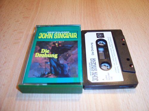 John Sinclair Hörspiel MC 017 17 Die Drohung Teil 1 von 3 1/3  Tonstudio Braun 1. schwarz-weiß gebr.