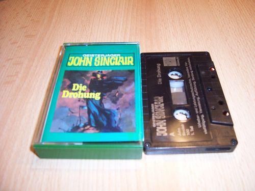 John Sinclair Hörspiel MC 017 17 Die Drohung Teil 1 von 3 1/3  Tonstudio Braun 2. schwarz Atom gebr.