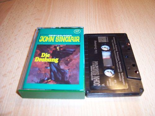 John Sinclair Hörspiel MC 017 17 Die Drohung Teil 1 von 3 1/3  Tonstudio Braun 3. schwarz Film gebr.